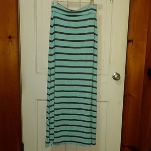 Charlotte Russe striped maxi skirt size small